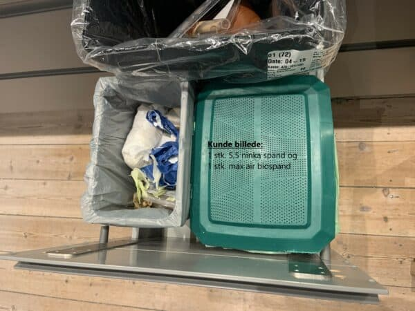 Ninka og max air biospand indretning